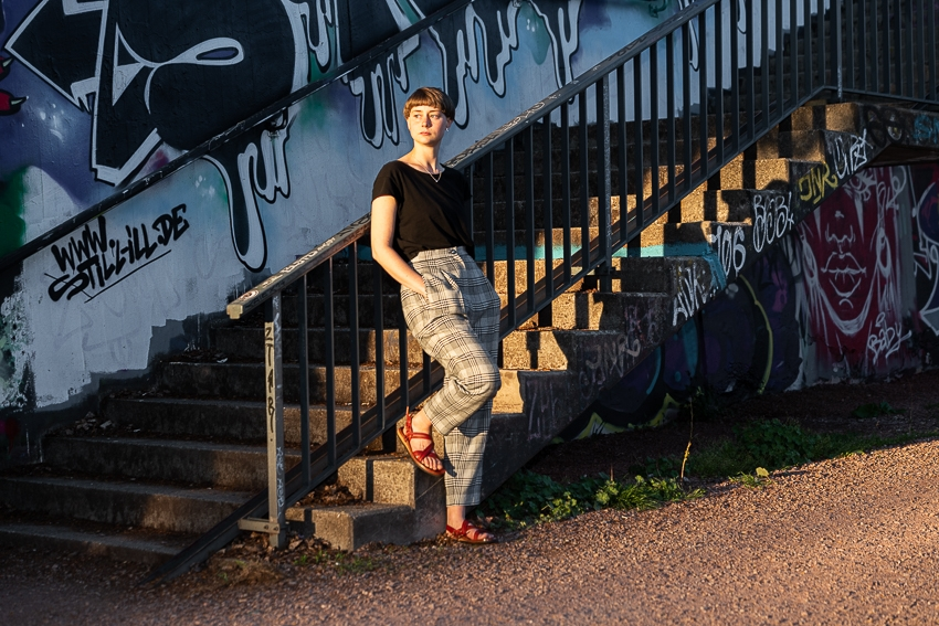 Lifestyle Bild an der Treppe